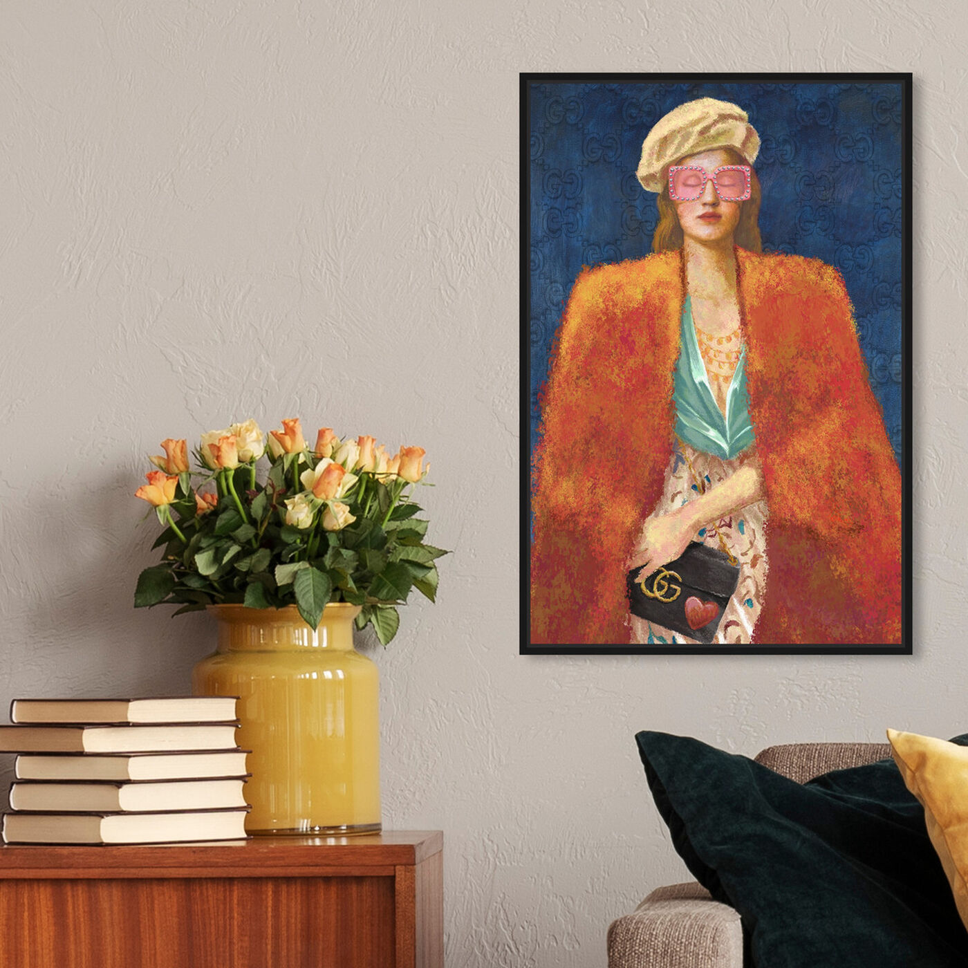 Hanging view of Narcissa featuring fashion and glam and accessories art.