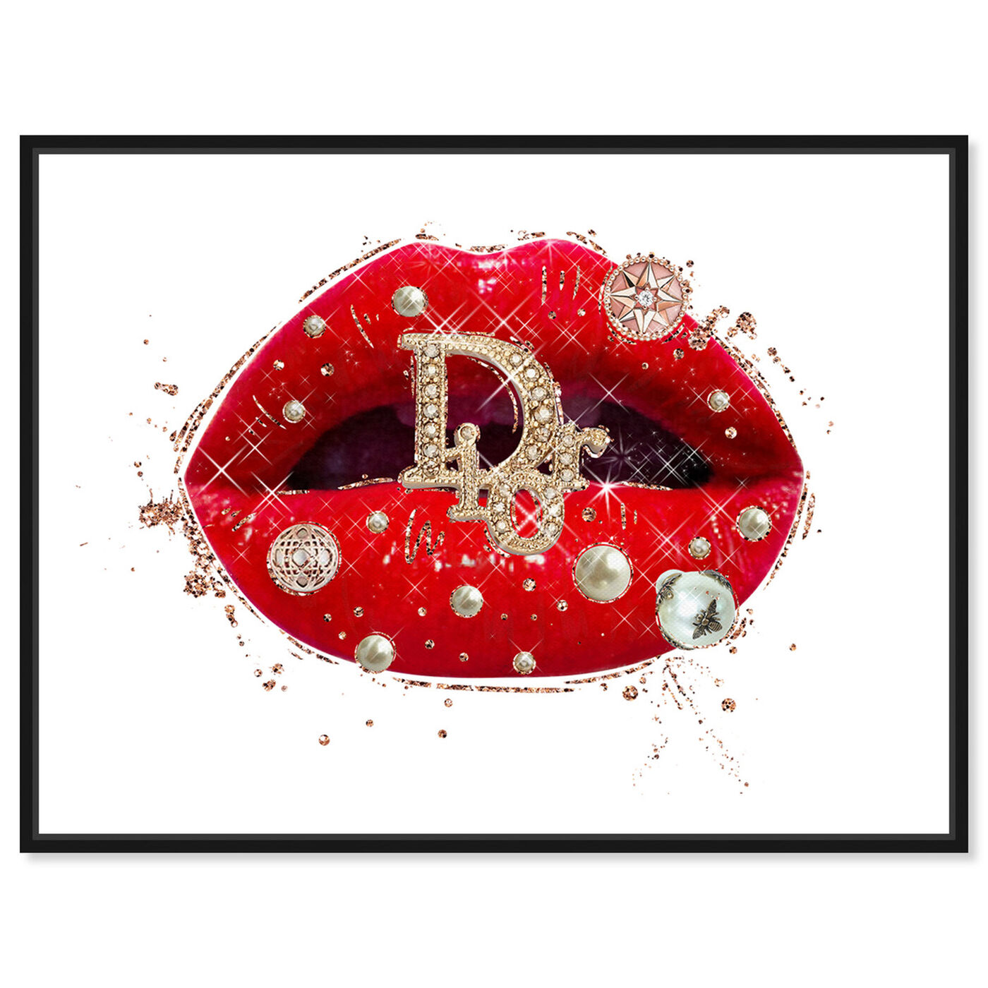 Front view of Pearls on Red Lips featuring fashion and glam and lips art.