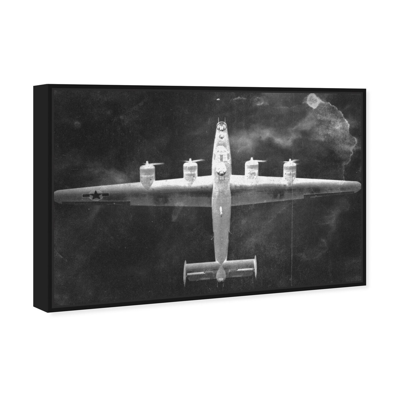 Angled view of Aircraft Inverted featuring transportation and airplanes art.