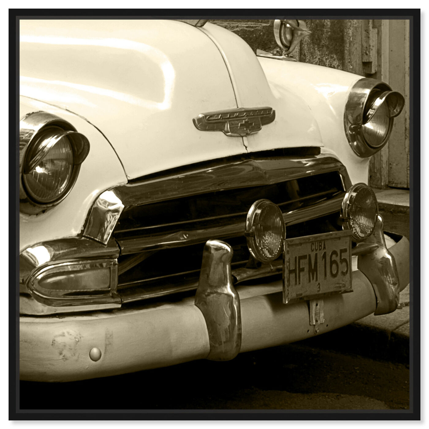 Front view of Vintage Macchina II featuring transportation and automobiles art.