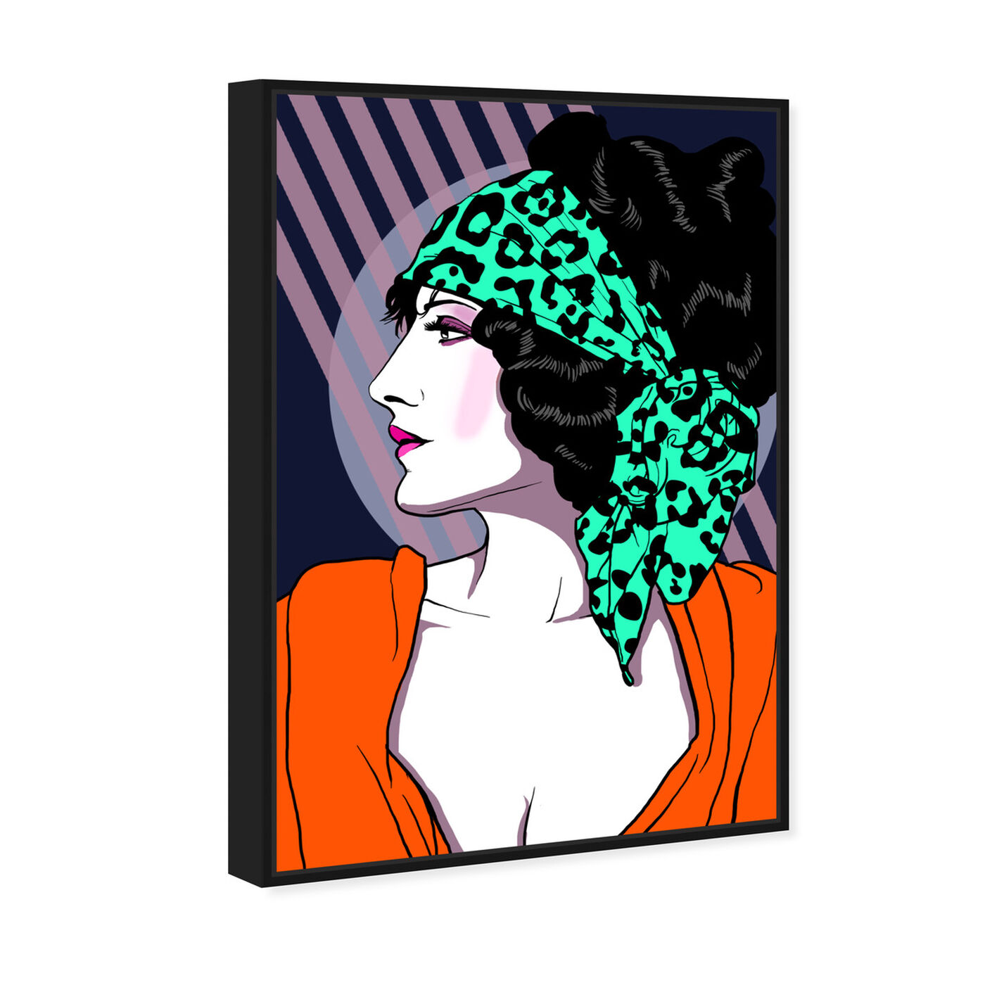 Angled view of 80s Rocker Gal featuring fashion and glam and portraits art.