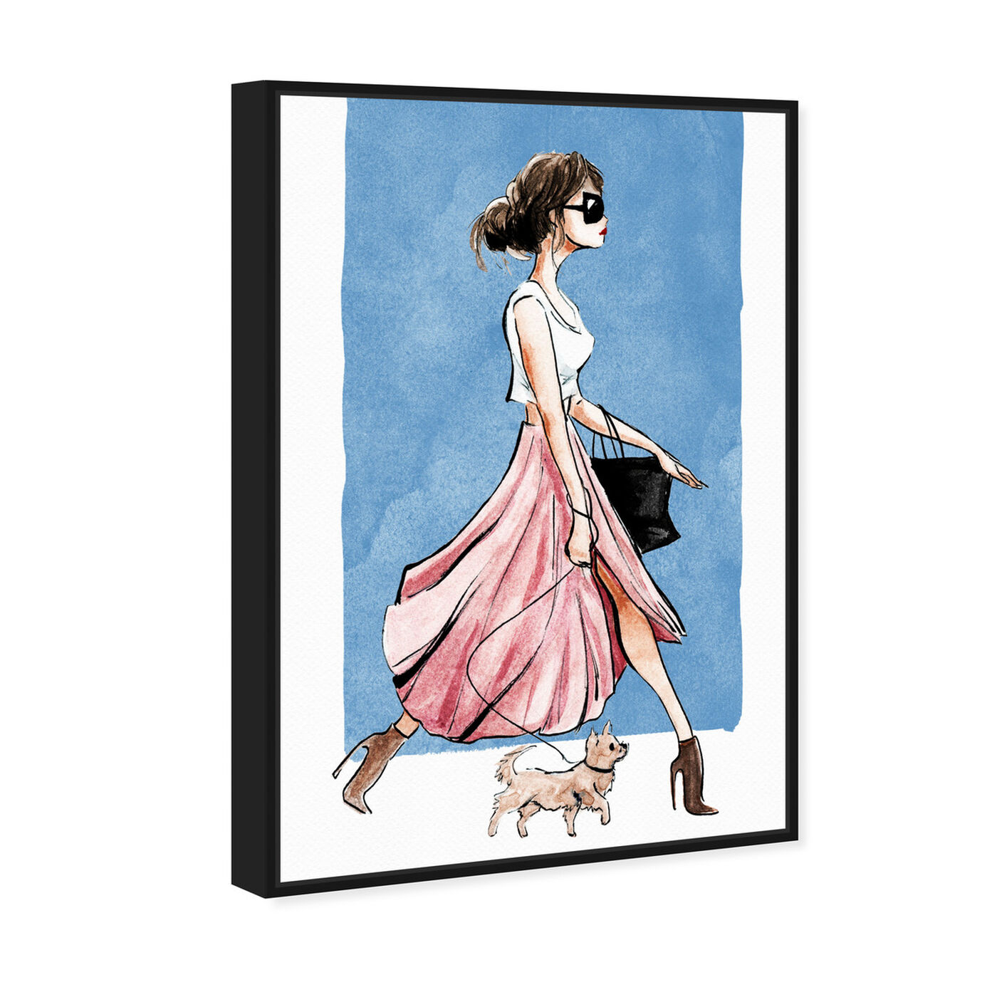 Angled view of Dog Walk Couture featuring fashion and glam and outfits art.