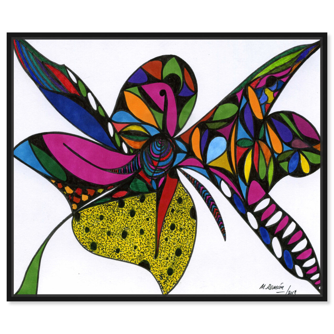 Front view of Wild Orchid featuring abstract and shapes art.