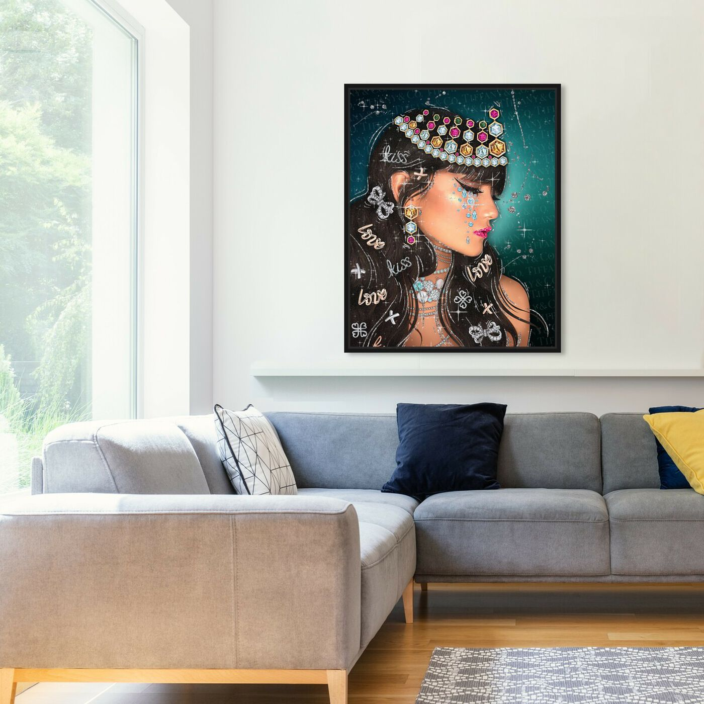 Hanging view of Lovely Jasmine featuring fashion and glam and portraits art.