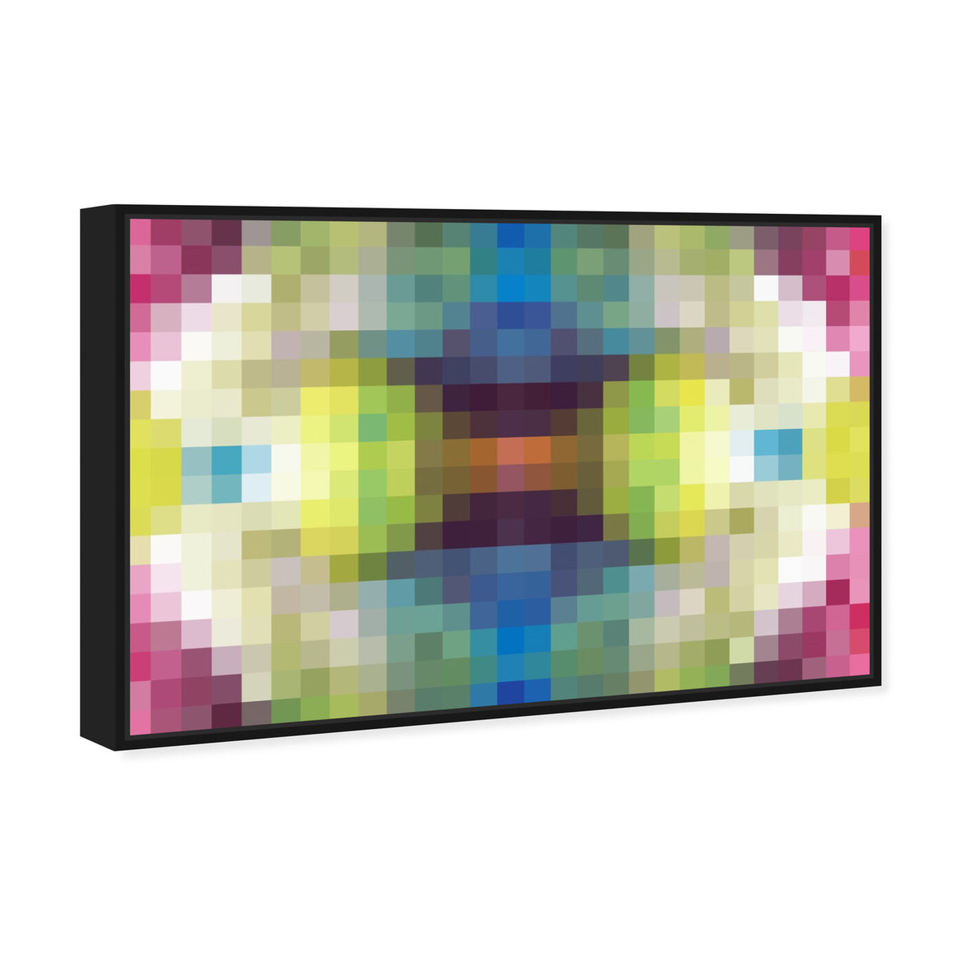 Angled view of Candy Store Pixel featuring abstract and textures art.