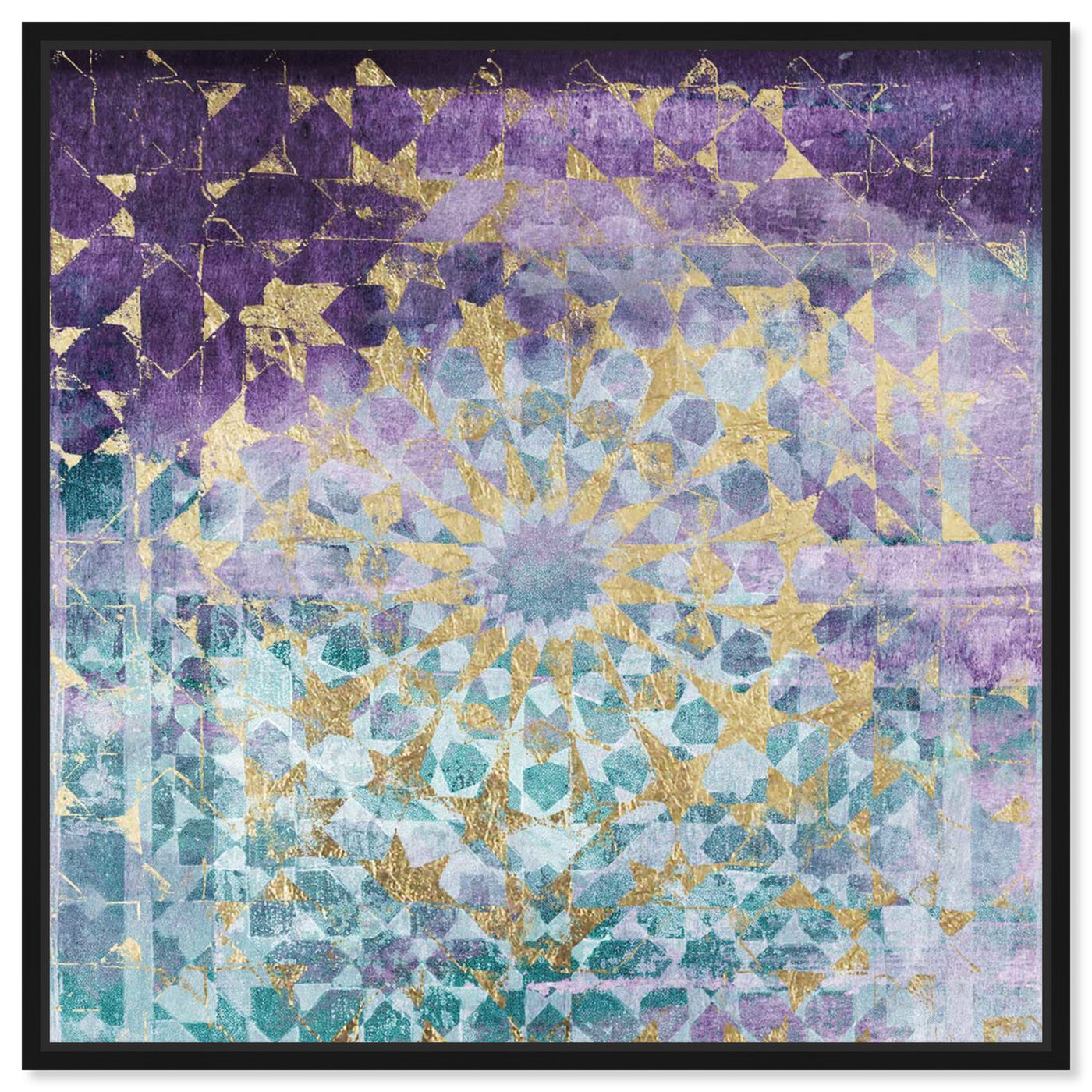 Front view of Viridian Violet Mandala featuring abstract and patterns art.