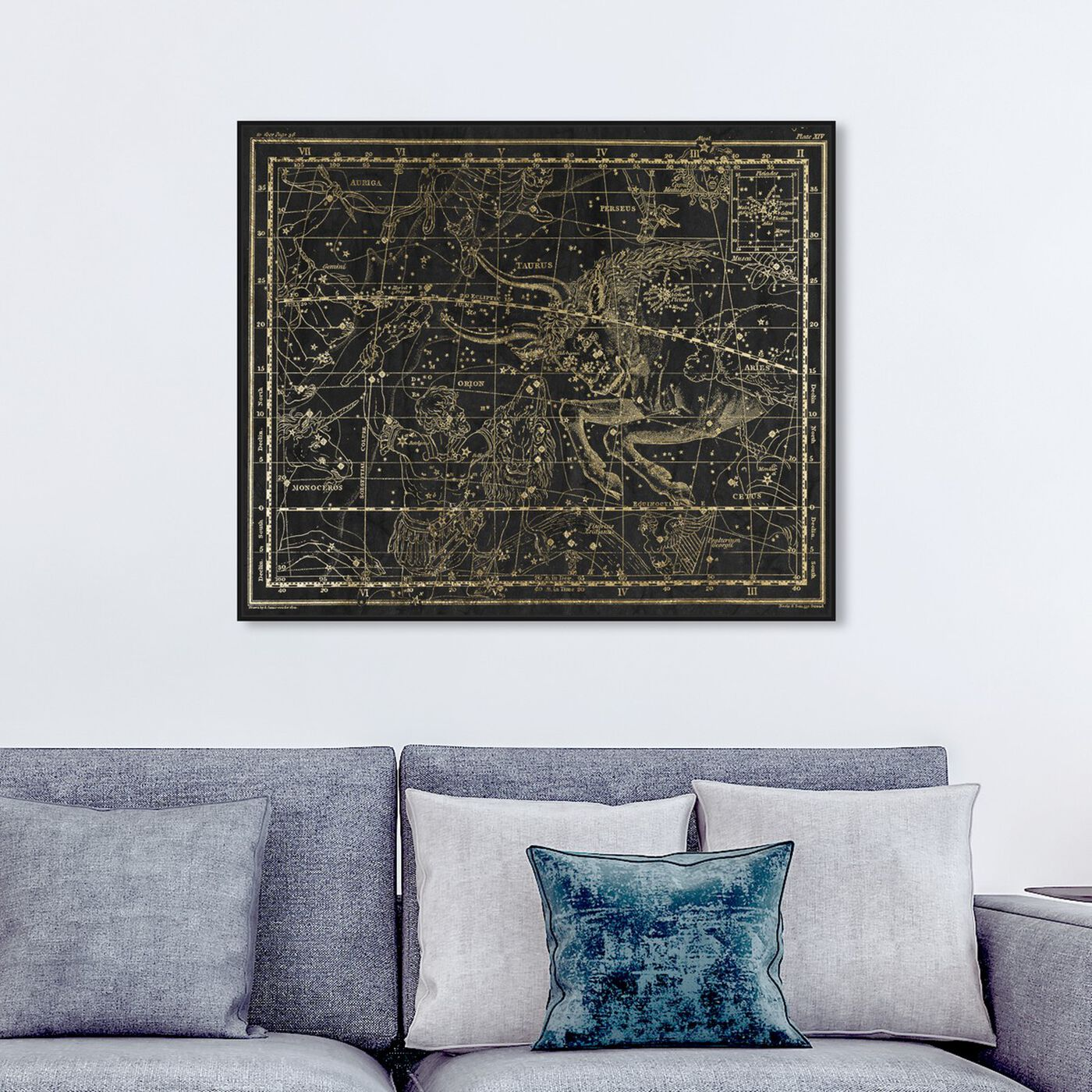 Hanging view of Taurus featuring spiritual and religious and zodiac art.