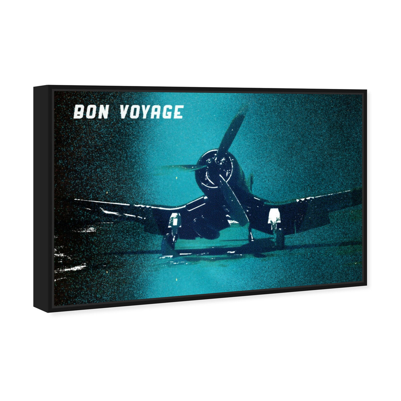 Angled view of Bon Voyage featuring transportation and airplanes art.