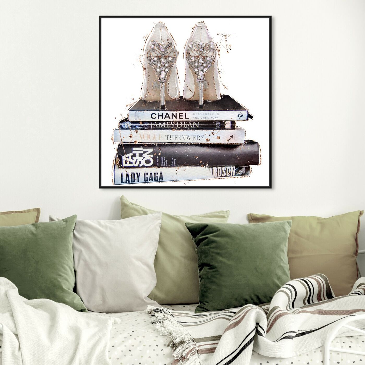 Hanging view of Favorite Shoes II featuring fashion and glam and shoes art.
