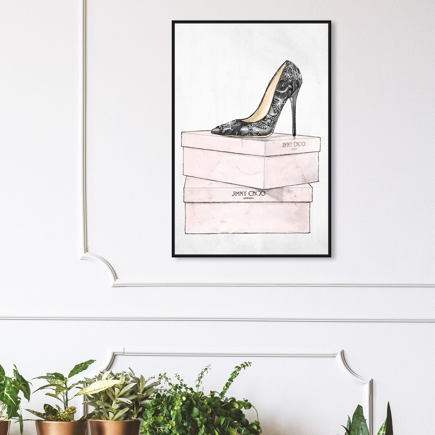 Hanging view of The One and Only featuring fashion and glam and shoes art.