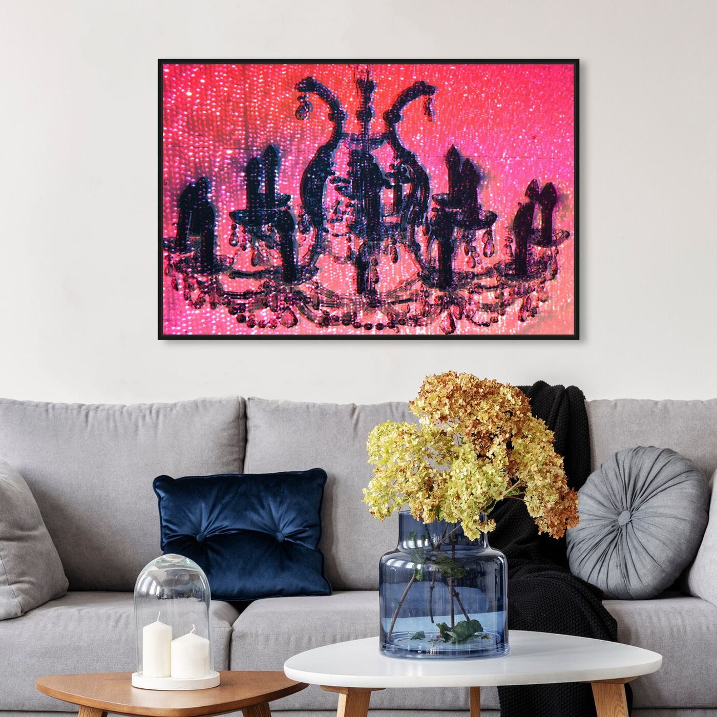 Hanging view of Diamond Burst featuring fashion and glam and chandeliers art.