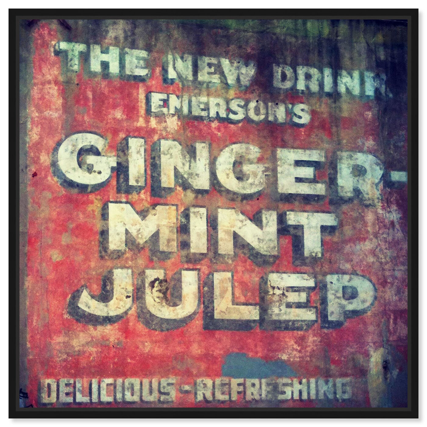 Front view of Ginger Mint Julep featuring advertising and promotional brands art.
