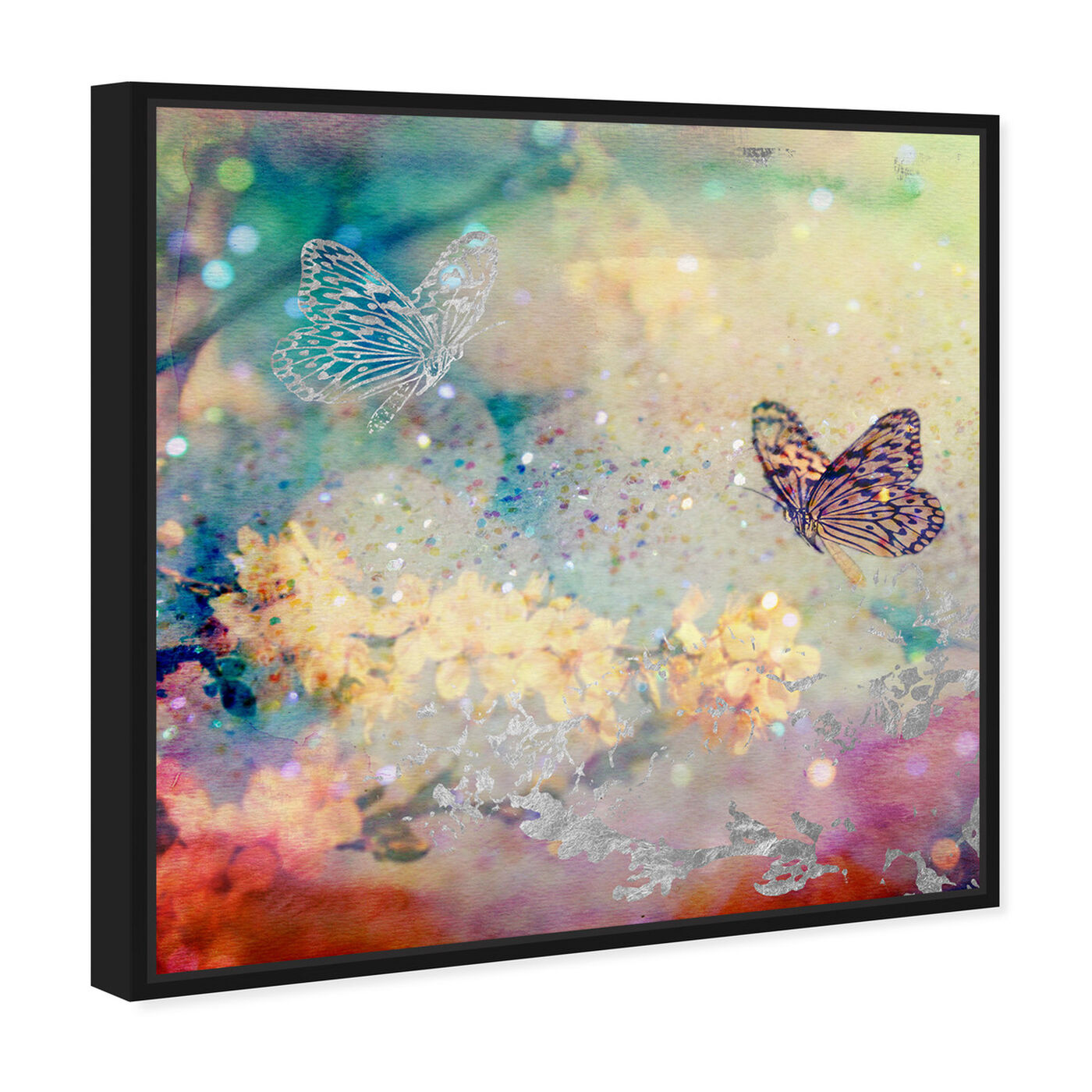 Angled view of Butterfly Dance featuring floral and botanical and gardens art.