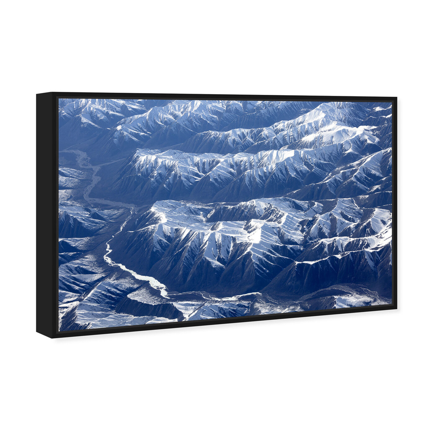 Angled view of Curro Cardenal - Aero View IV featuring nature and landscape and mountains art.