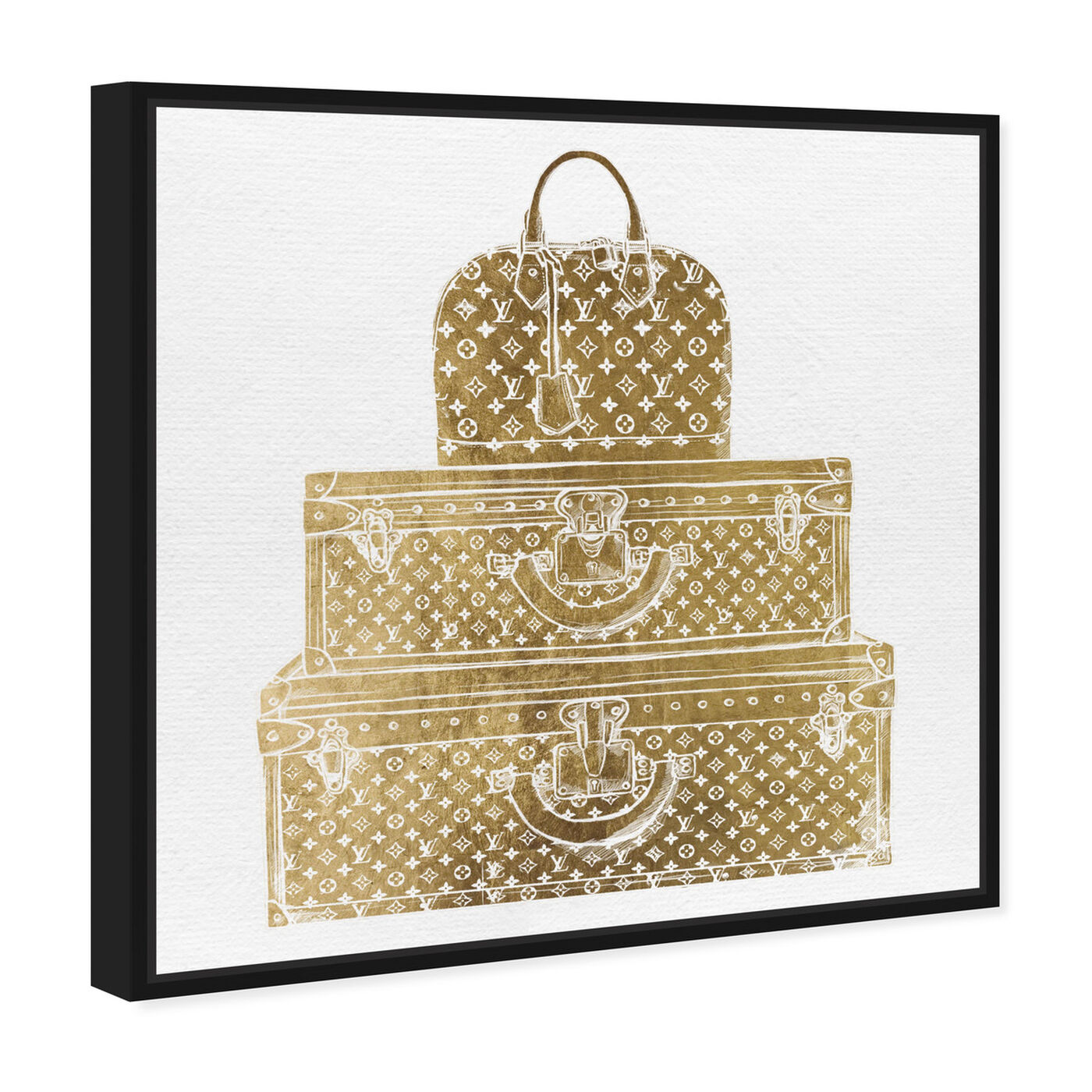 Angled view of Royal Bag and Luggage Gold featuring fashion and glam and travel essentials art.
