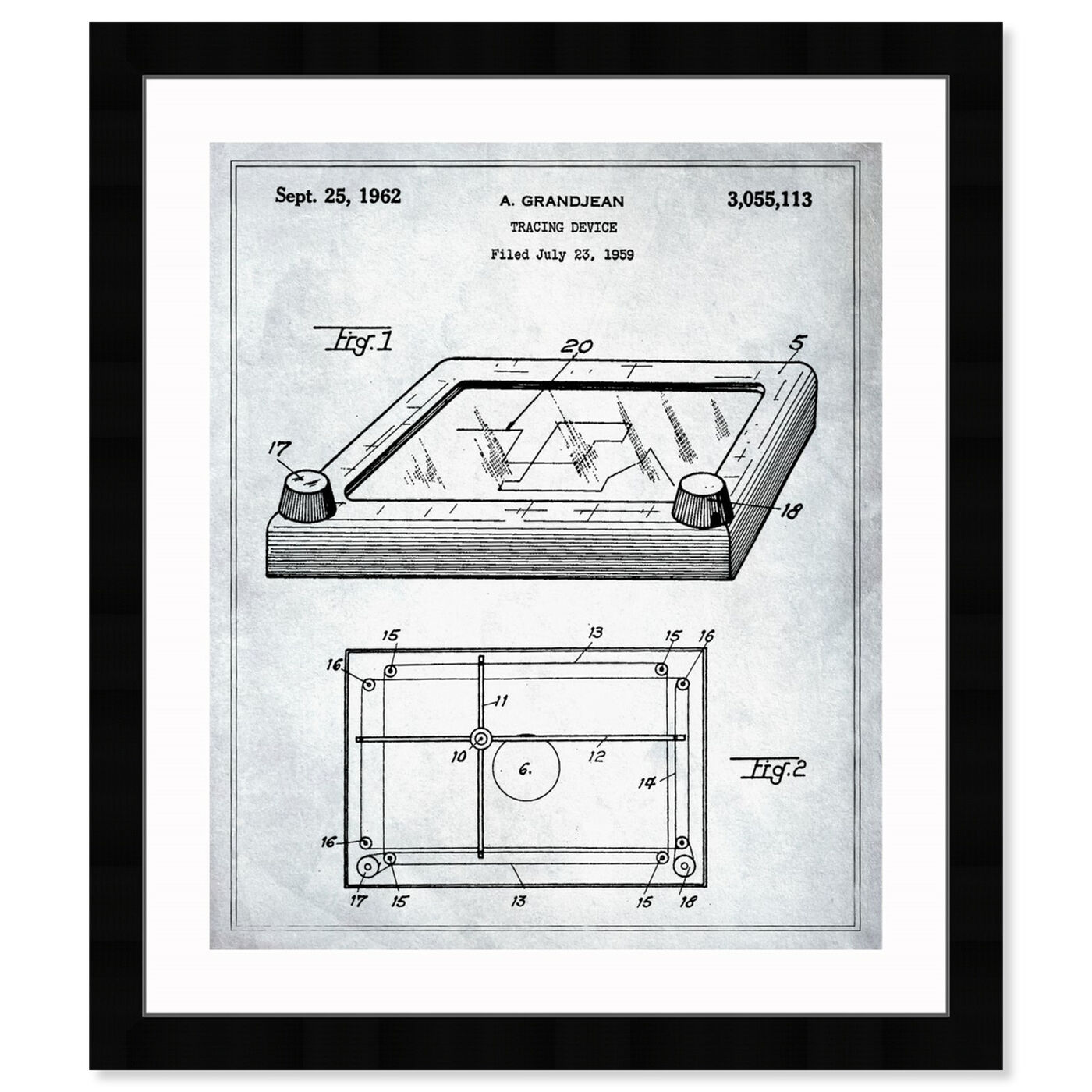 Front view of Etch A Sketch 1962 featuring people and portraits and professions art.