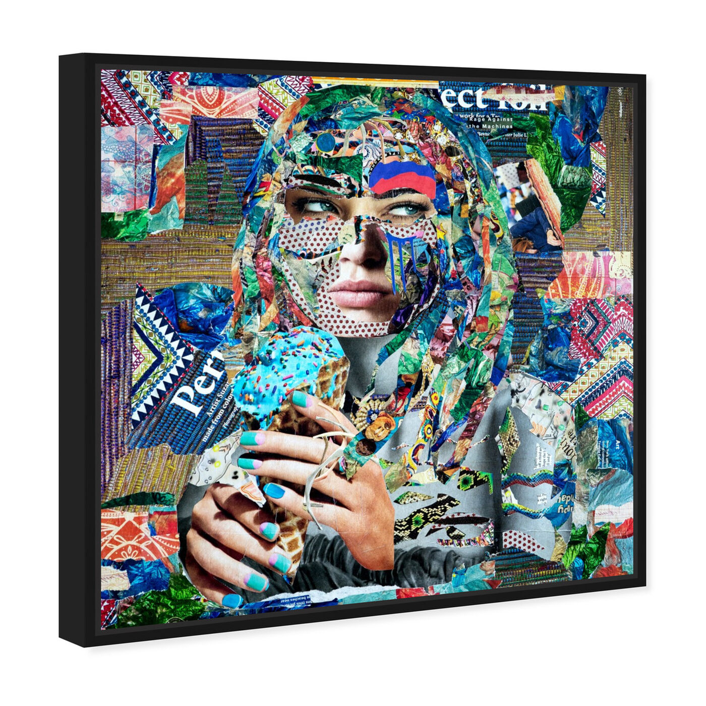 Angled view of BlueRaspberry by Katy Hirschfeld featuring fashion and glam and portraits art.