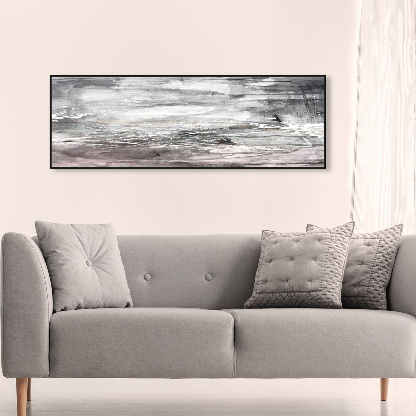 Hanging view of The Calm Bliss featuring abstract and paint art.