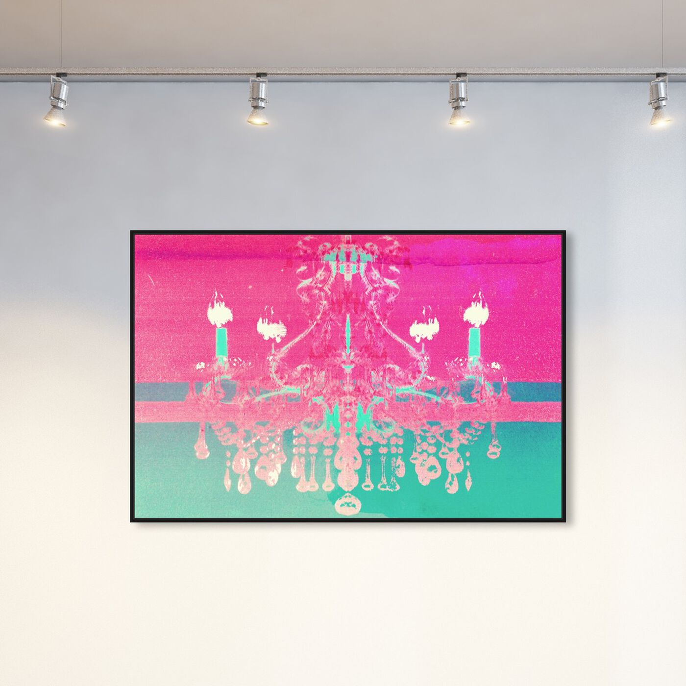 Hanging view of Adagio for Strings featuring fashion and glam and chandeliers art.