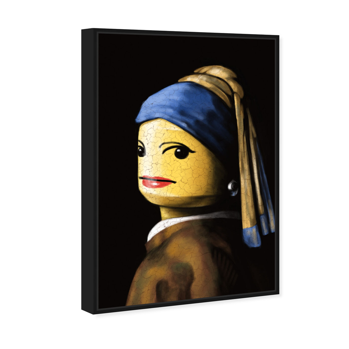 Angled view of Toy with the Pearl Earring featuring classic and figurative and classic art.