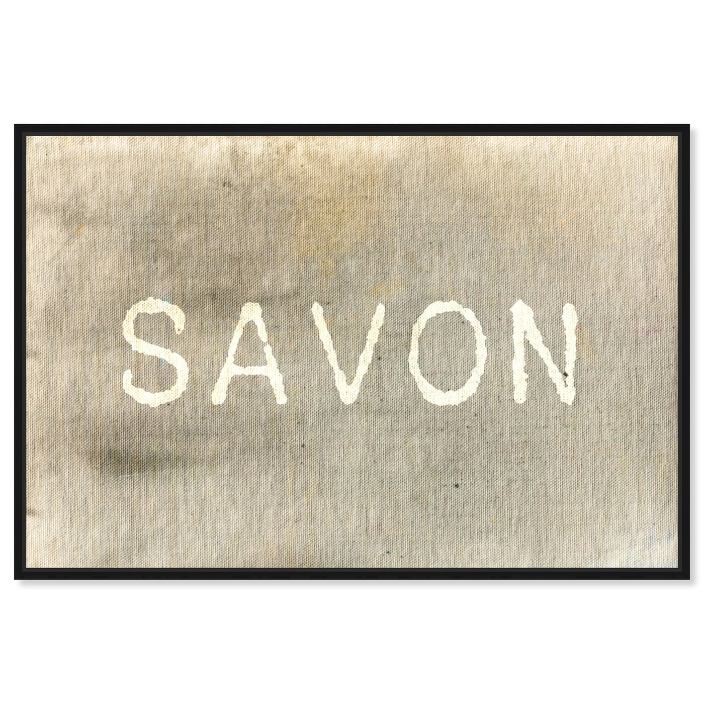 Front view of Savon featuring typography and quotes and quotes and sayings art.