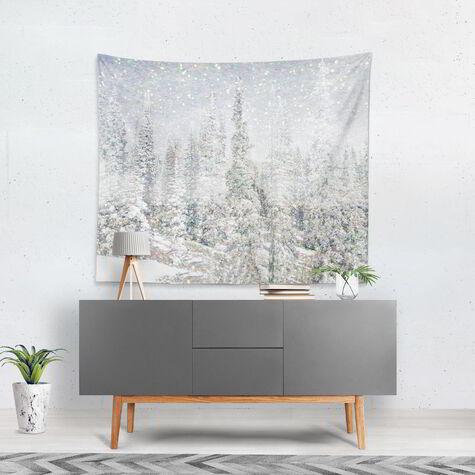 Magic Snow Trees Tapestry Art