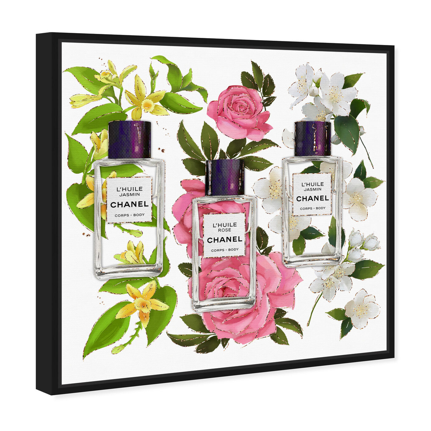 Angled view of Absolutely Fragrant featuring fashion and glam and perfumes art.