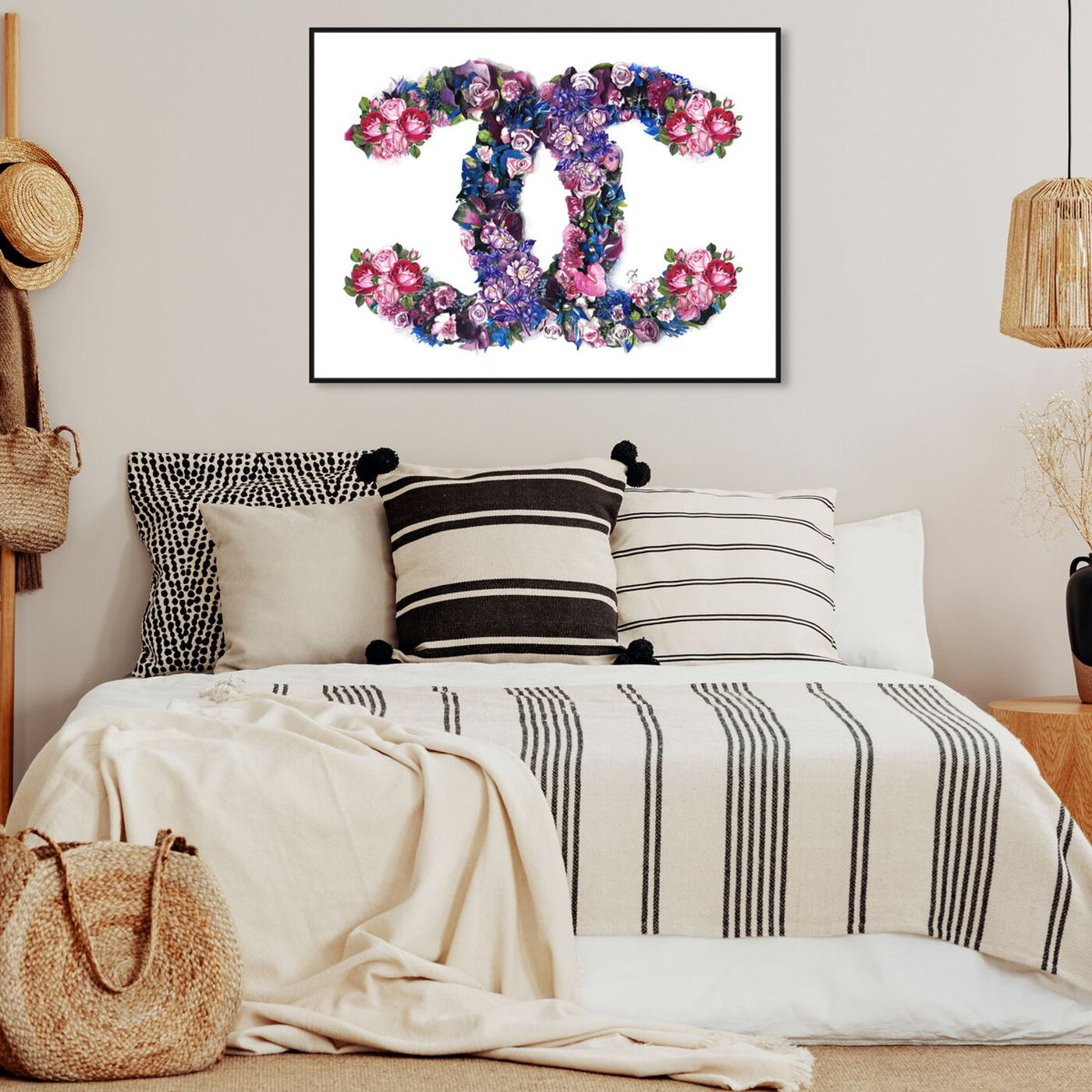 Hanging view of Doll Memories - Exquisite Flower Delight featuring fashion and glam and lifestyle art.
