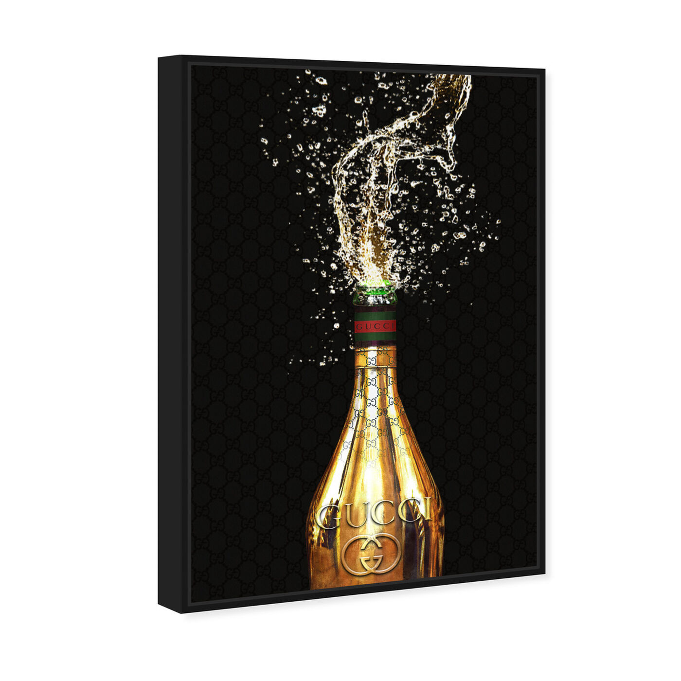 Angled view of Italian Champagne featuring drinks and spirits and champagne art.
