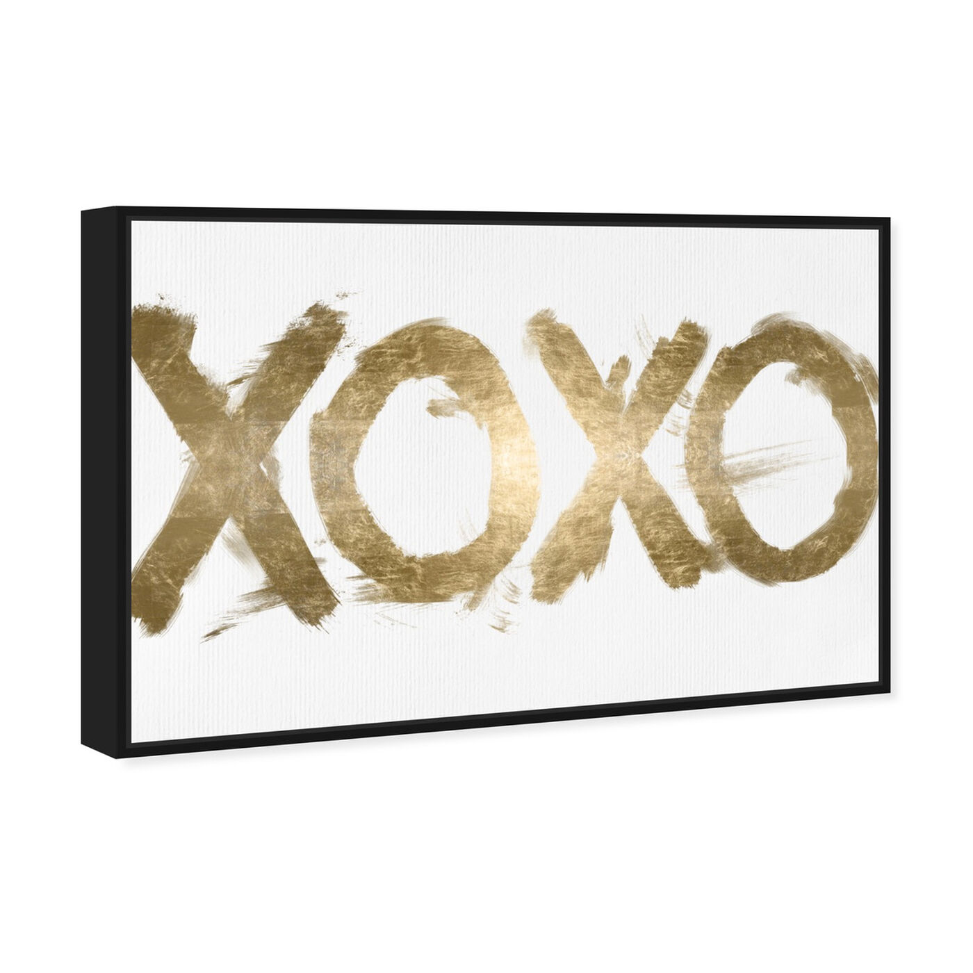 Angled view of XOXO Solid I featuring typography and quotes and signs art.
