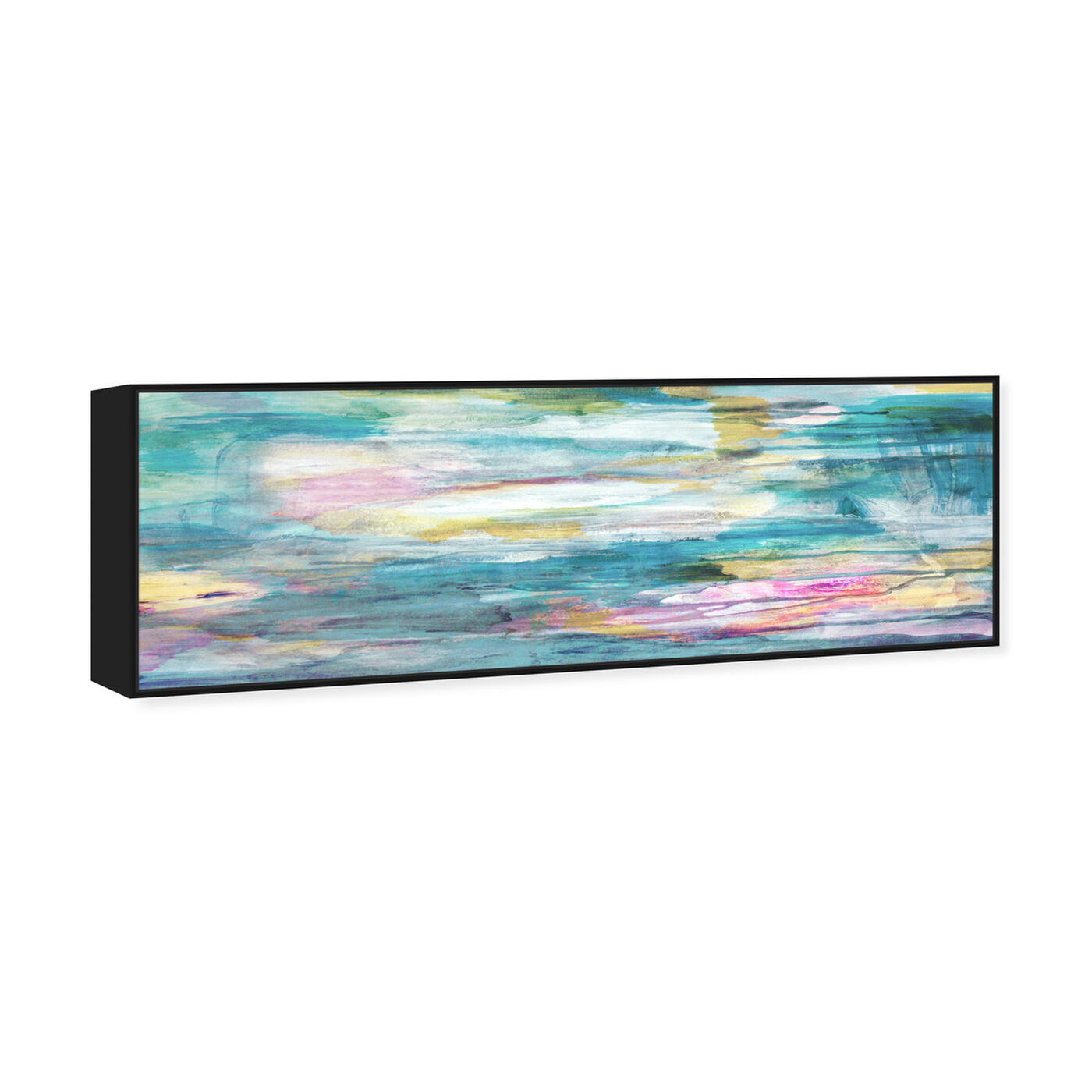 Angled view of The Calm Love featuring abstract and paint art.
