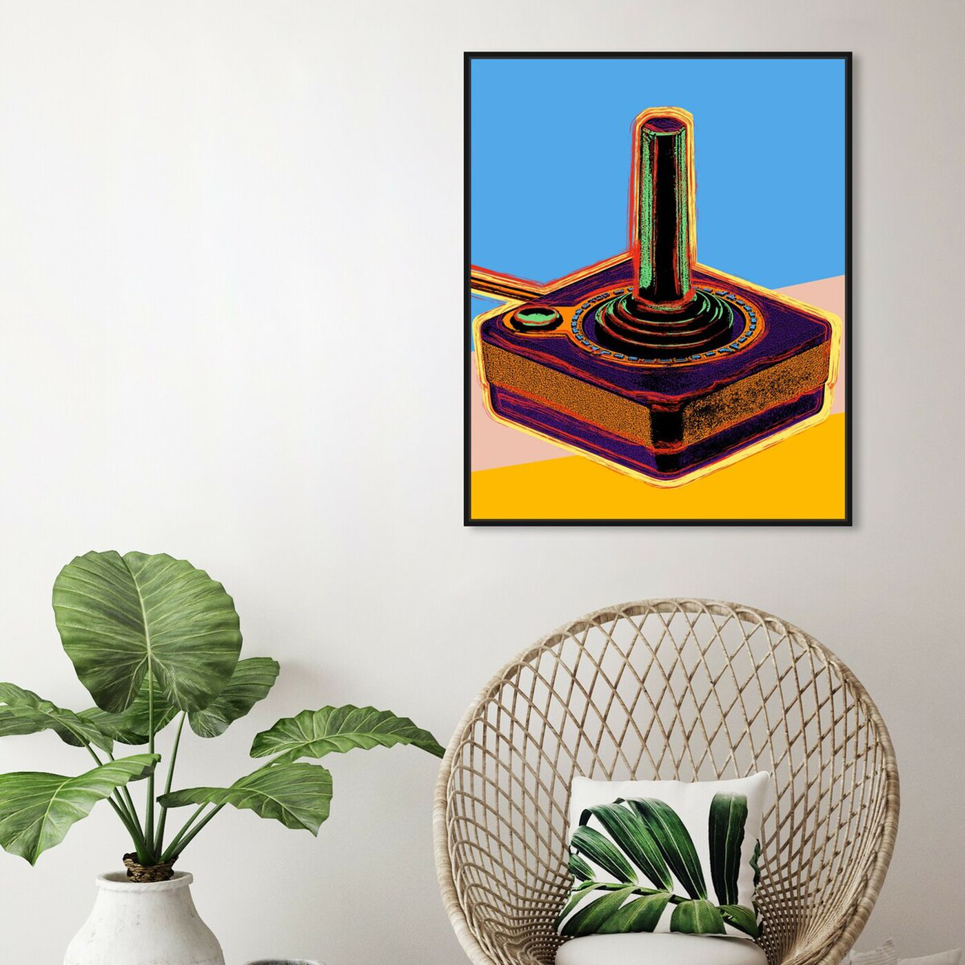 Hanging view of Warhol style Joystick featuring entertainment and hobbies and video games art.