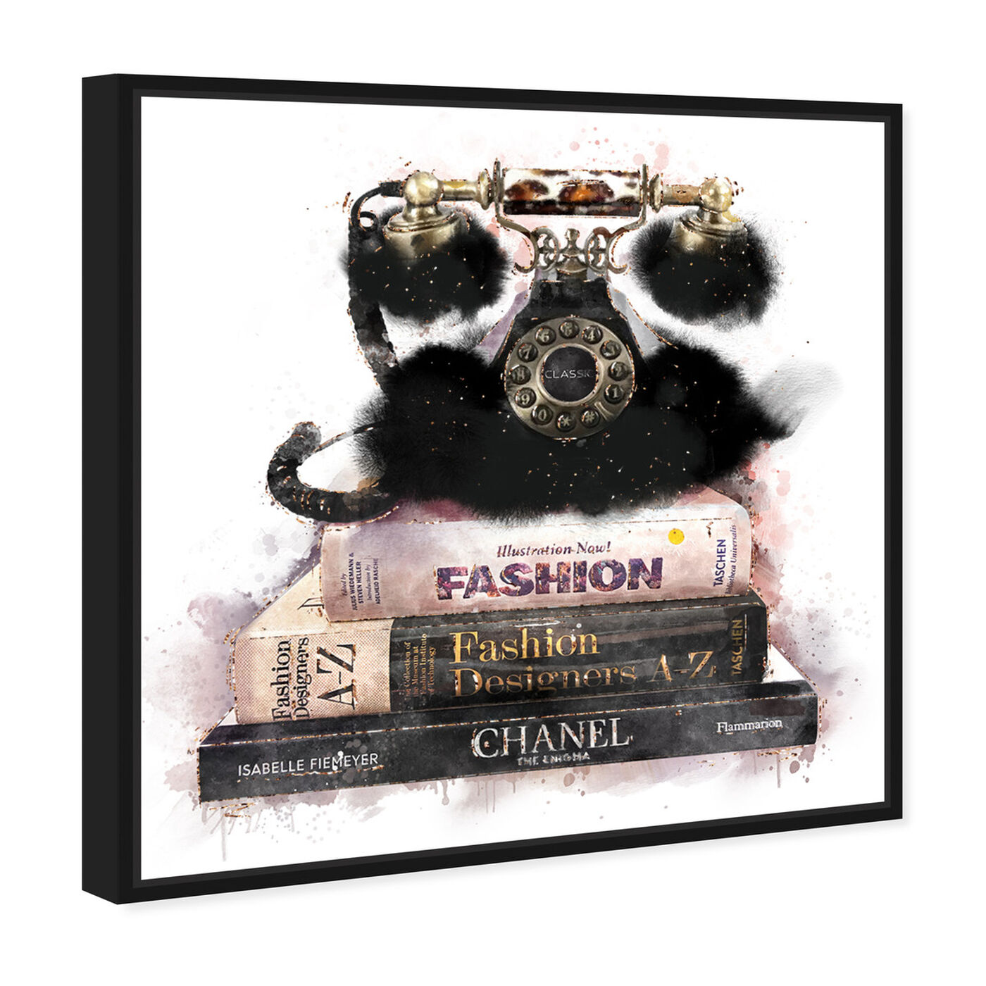 Angled view of Romantic Library Phone featuring fashion and glam and books art.
