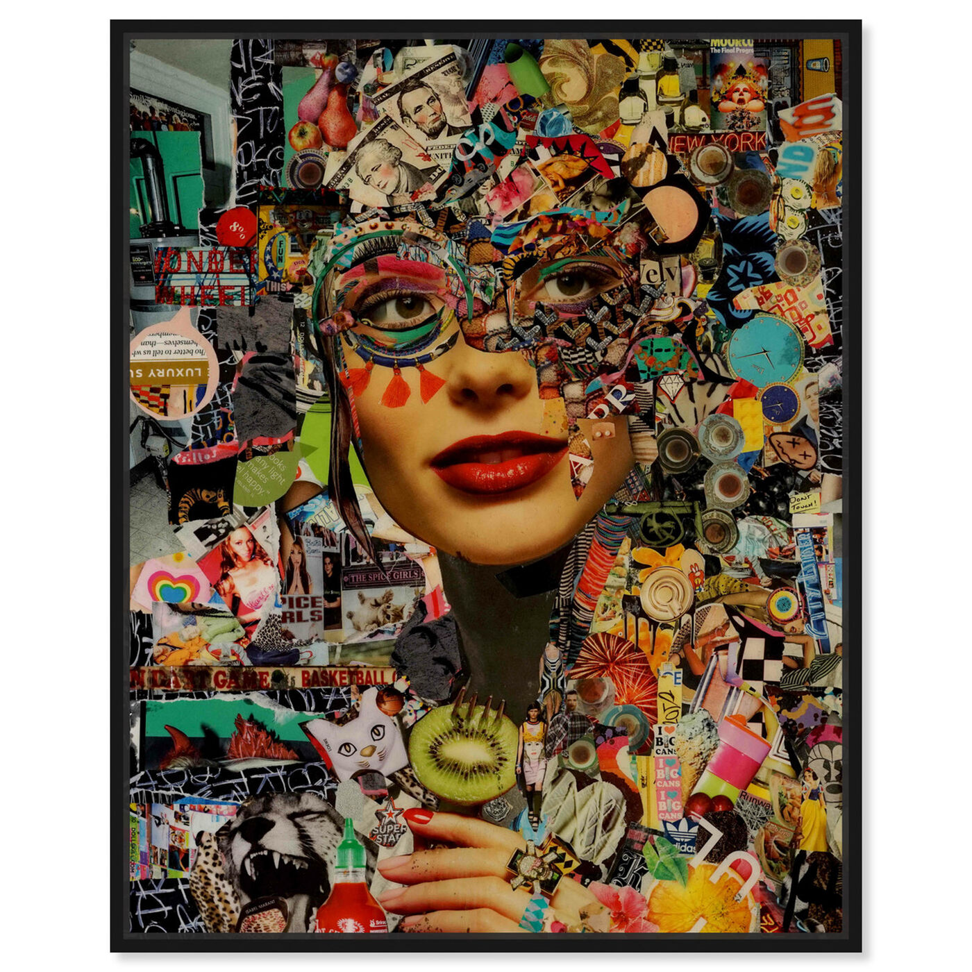 Front view of Katy Hirschfeld- Sweet and Sour featuring fashion and glam and portraits art.