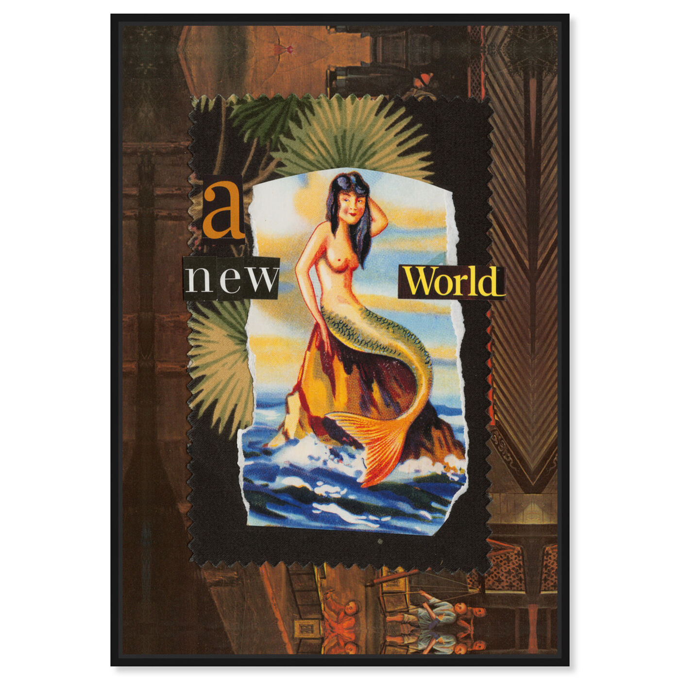 Front view of A New World by Anne Wadsworth featuring advertising and posters art.