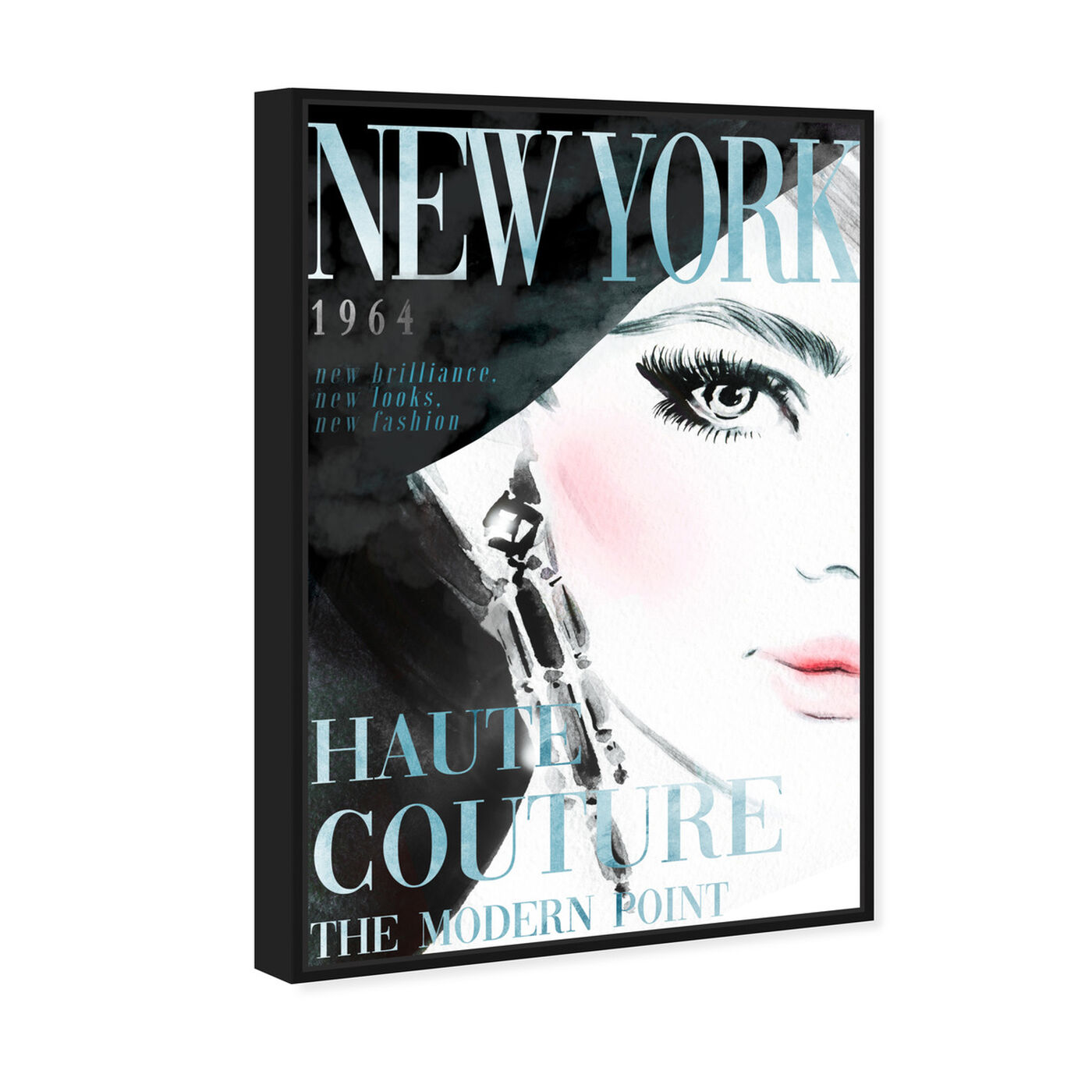 Angled view of Cover New York Aqua featuring advertising and publications art.