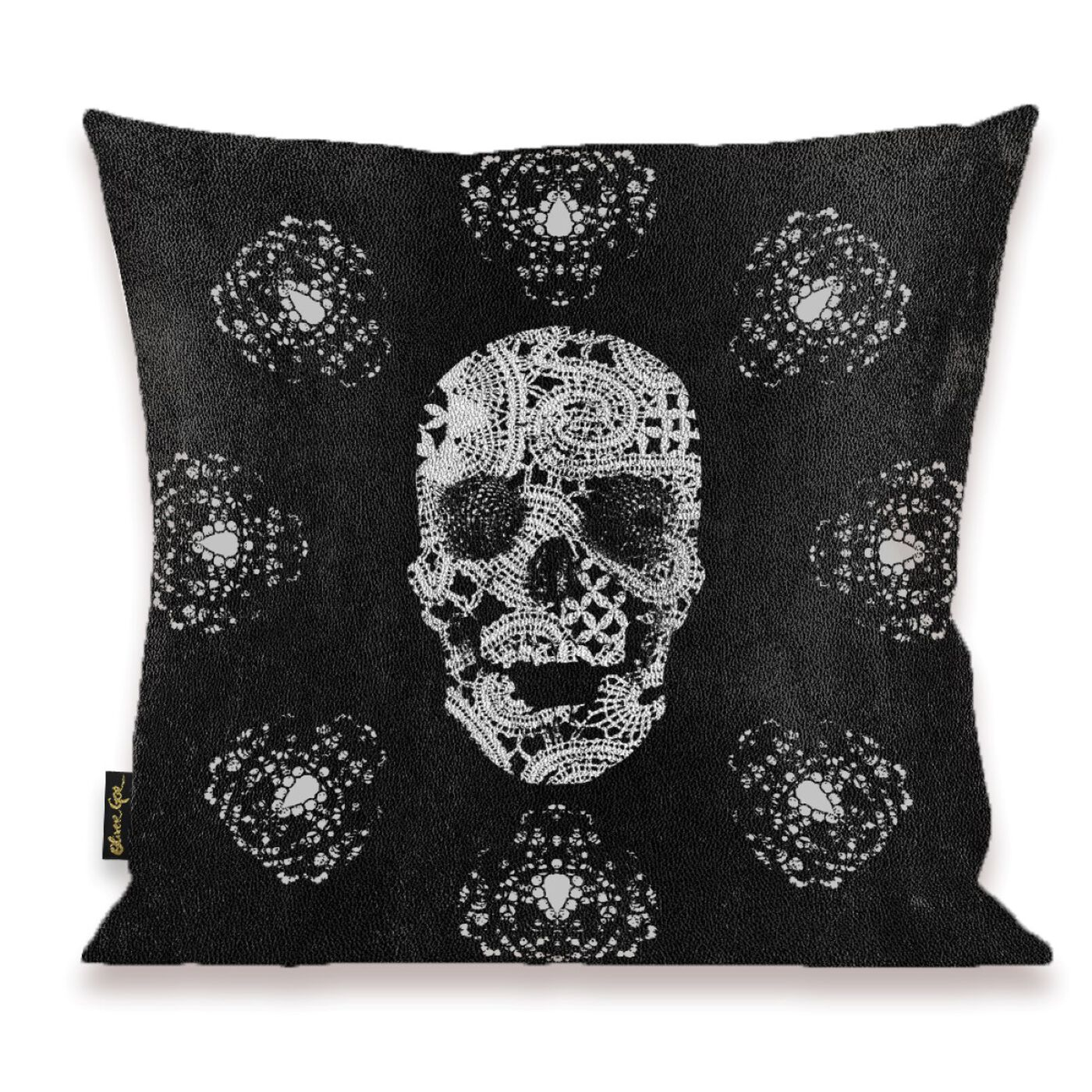 Lace and Leather Pillow