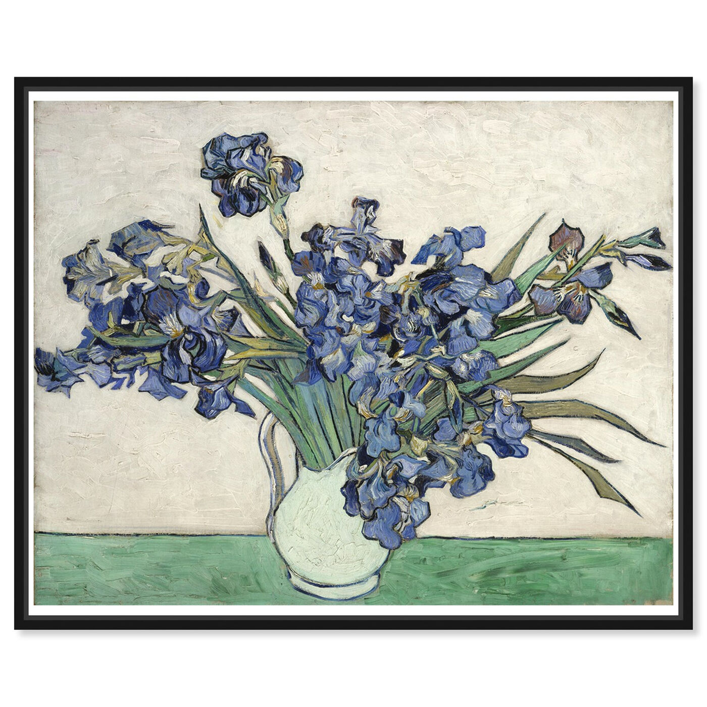 Front view of Van Gogh - Irises featuring floral and botanical and florals art.