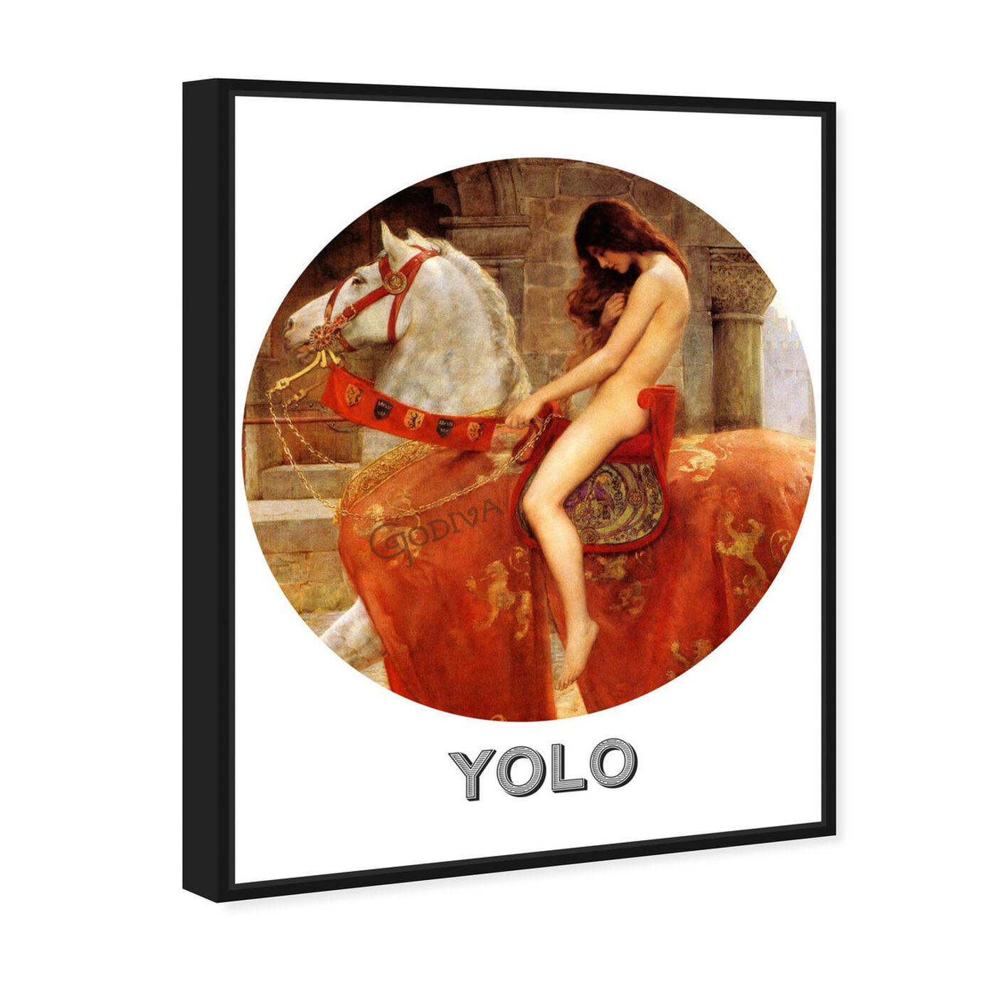 Angled view of Yolo featuring animals and farm animals art.