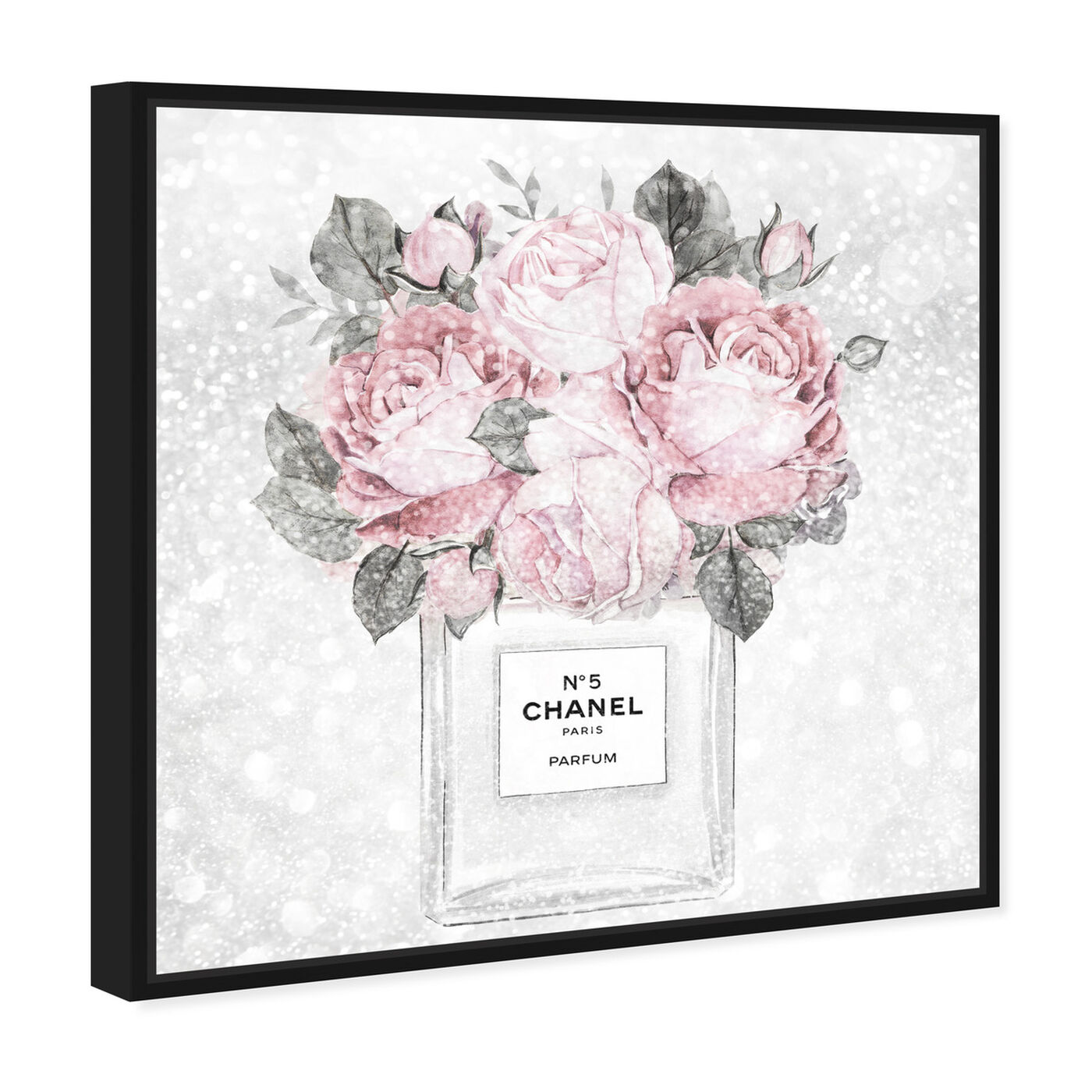 Angled view of Doll Memories - Rose Queen featuring floral and botanical and florals art.