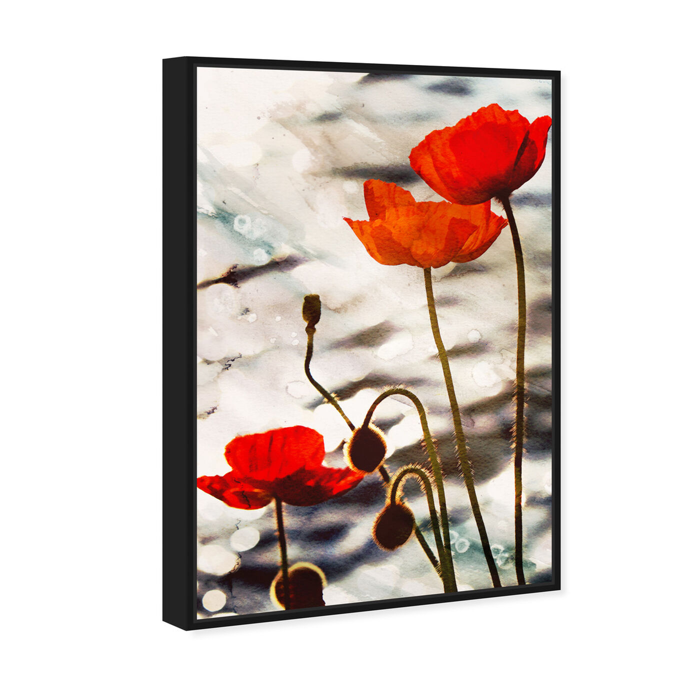 Angled view of Poppy Dusk featuring floral and botanical and florals art.
