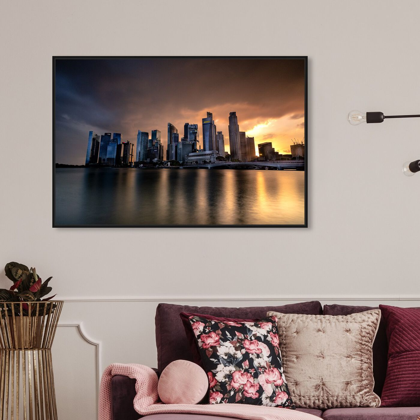 Hanging view of Curro Cardenal - Skyline featuring cities and skylines and world skylines art.