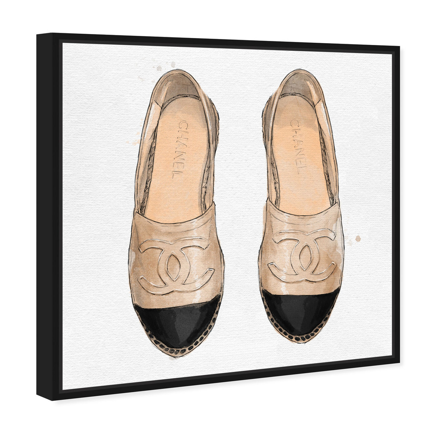 Angled view of Lady Slippers featuring fashion and glam and shoes art.