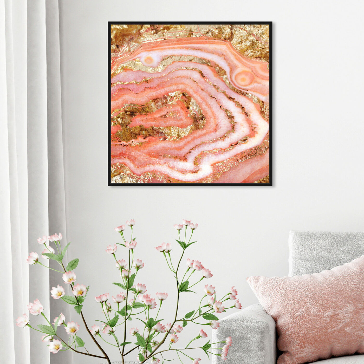 Hanging view of Agate Coral featuring abstract and crystals art.