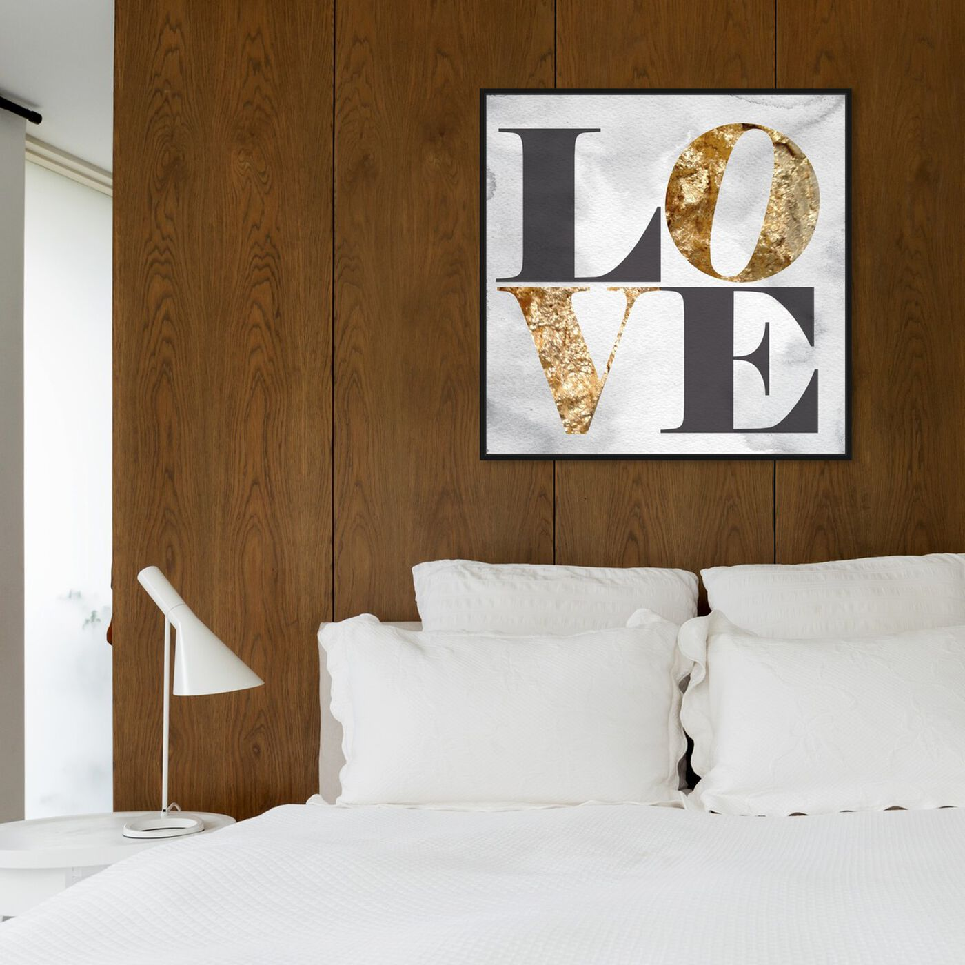 Hanging view of Build on Love Stone featuring typography and quotes and love quotes and sayings art.