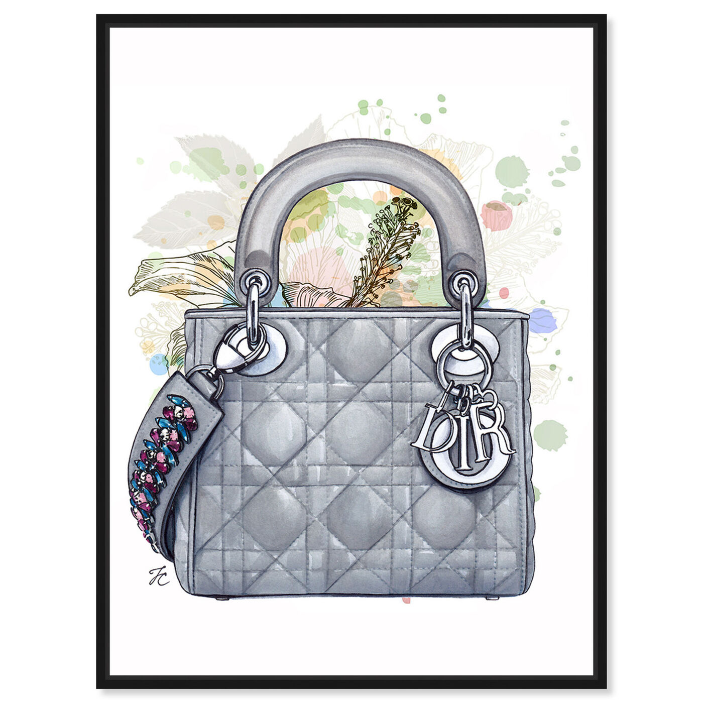 Front view of Doll Memories - Grey Shade featuring fashion and glam and handbags art.