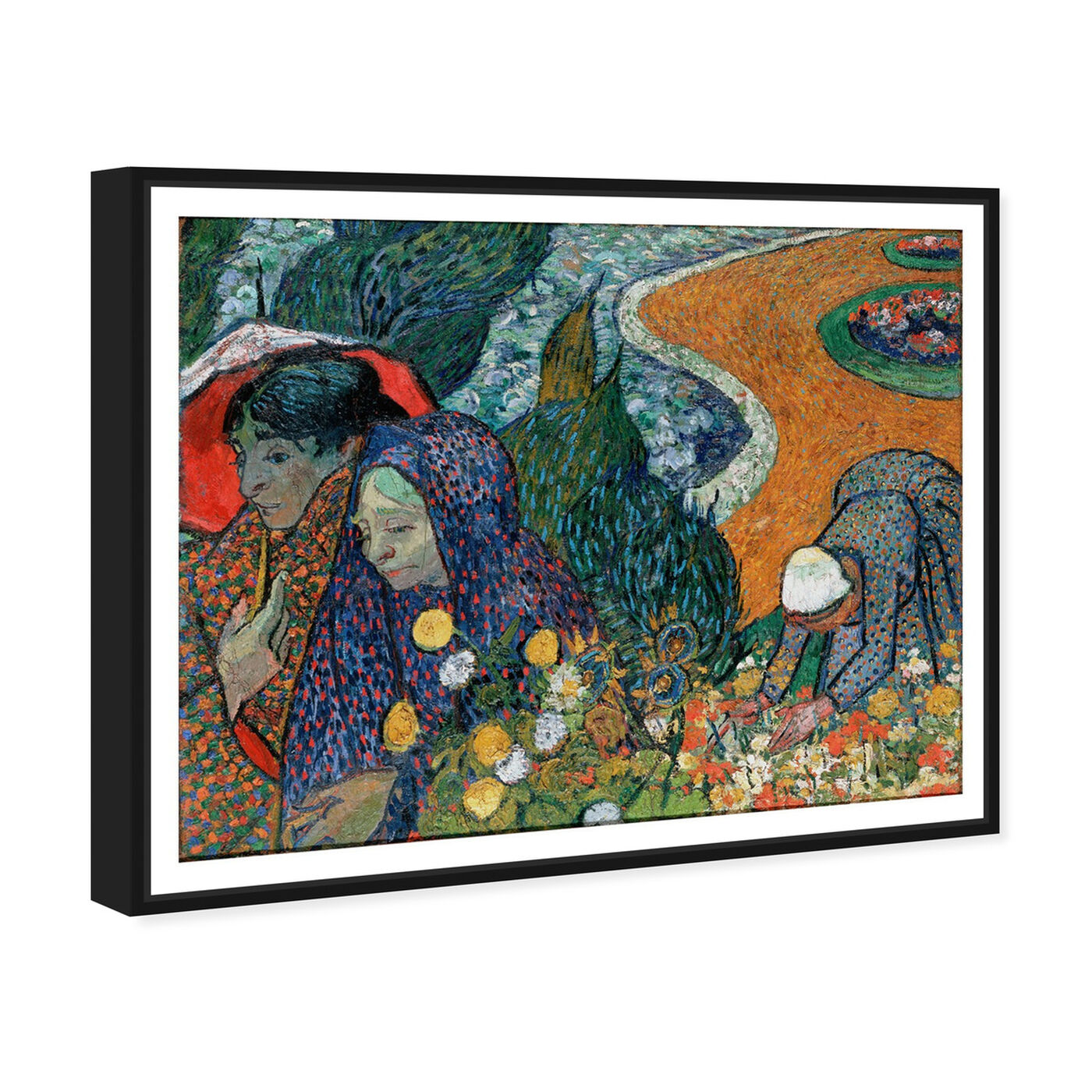 Angled view of Van Gogh - Ladies of Arle featuring classic and figurative and classic art.