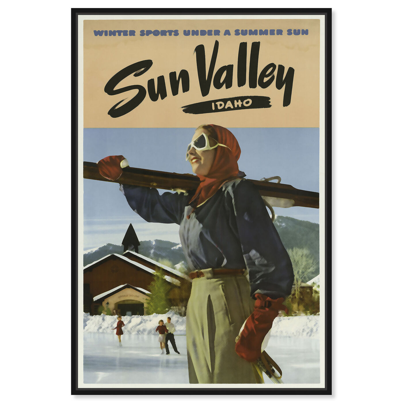 Front view of Sun Valley featuring sports and teams and skiing art.