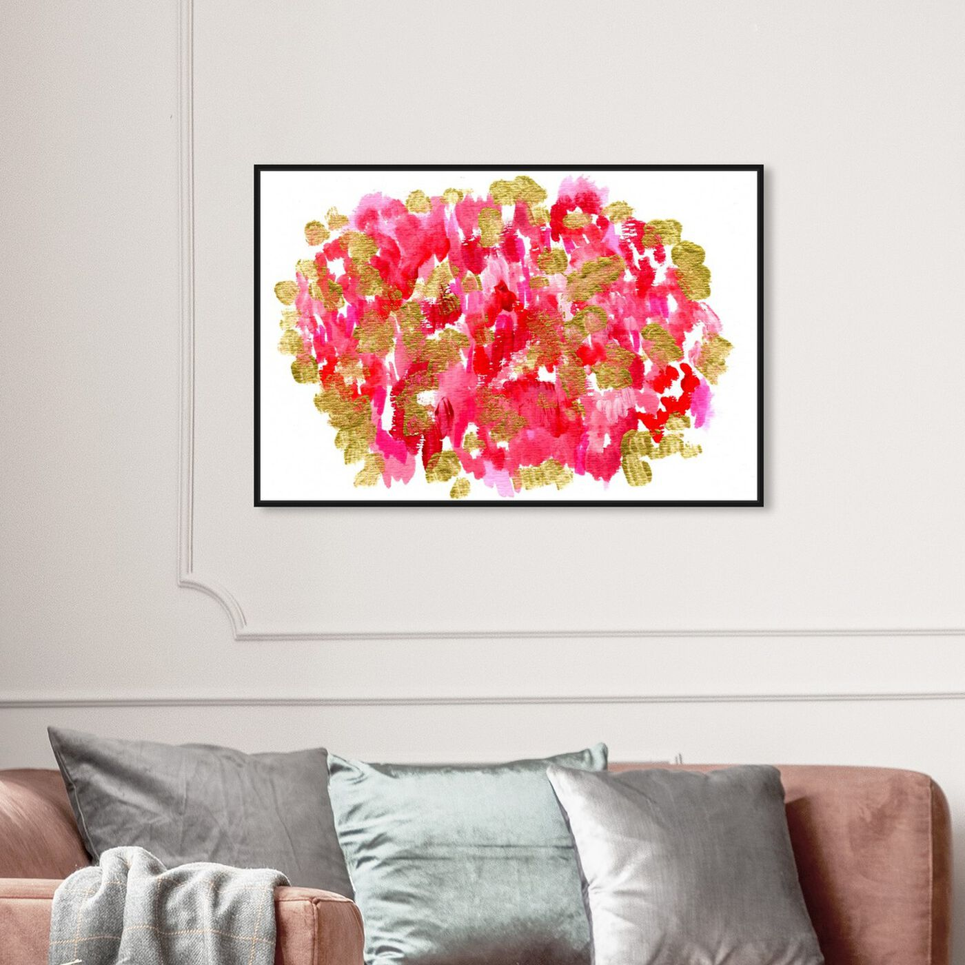 Hanging view of Pomegranate Garden featuring abstract and paint art.