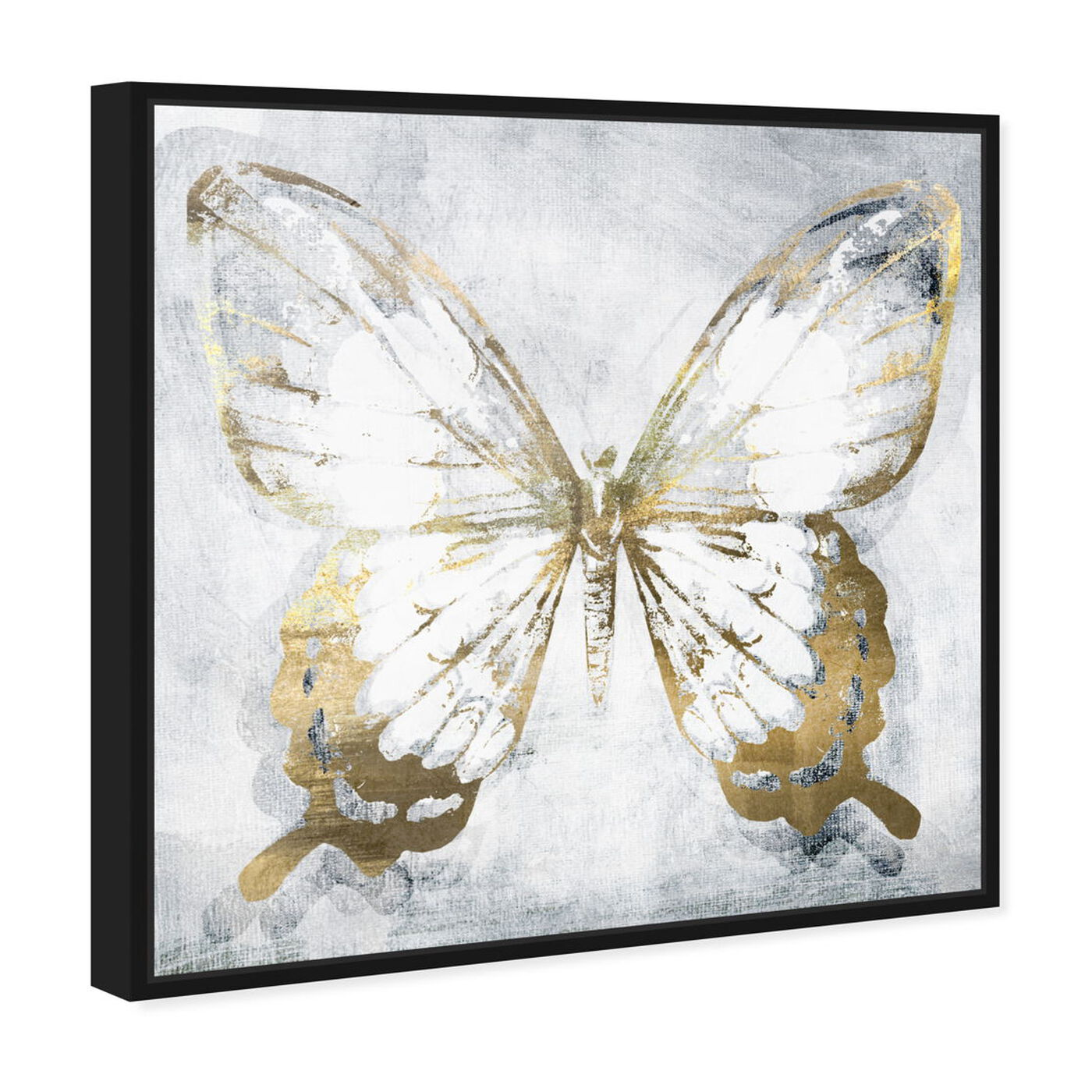 Angled view of Butterfly Eroded featuring animals and insects art.